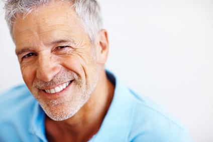 Portrait of happy mature man smiling